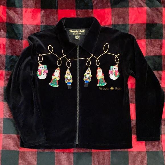 Christopher Radko Christmas Ornament Zip Cardigan